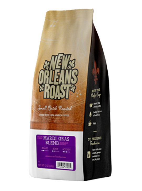 Bag of Mardi Gras Coffee