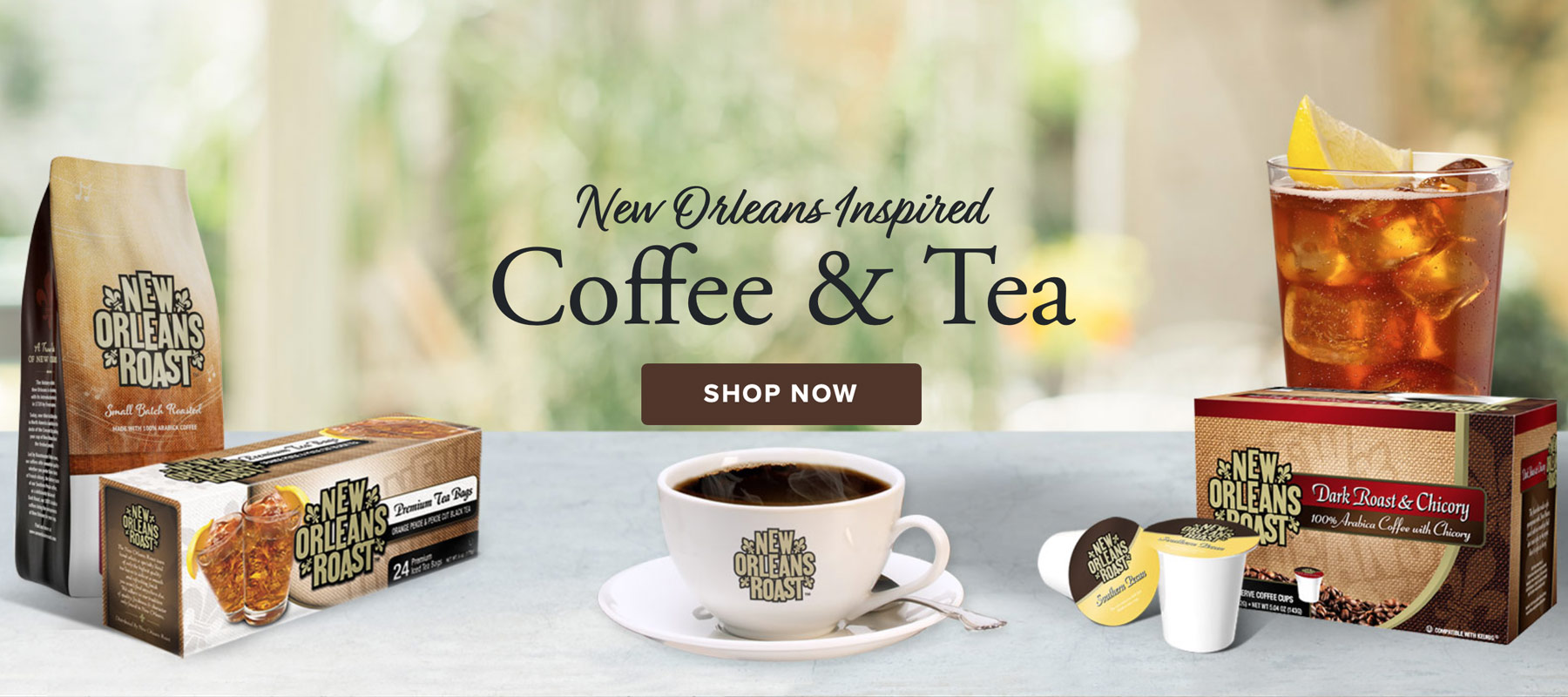New Orleans Inspired Coffee and Tea. Shop Now.