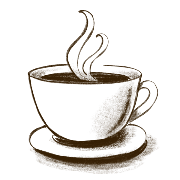 sketch of coffee cup