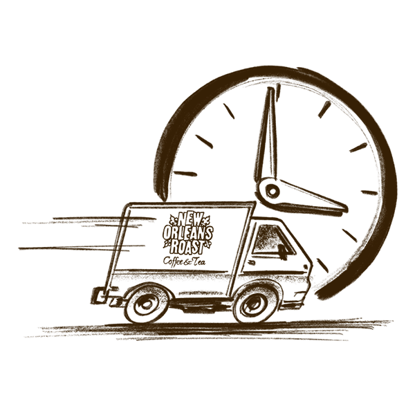 sketch of delivery truck