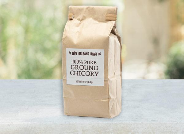 16 oz bag of pure chicory on table