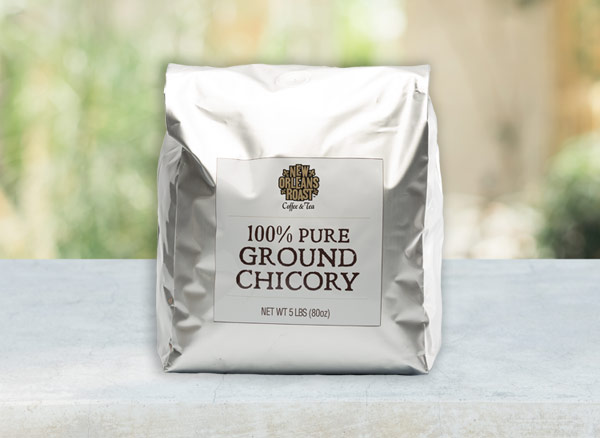 5lb bag of Pure Chicory on table