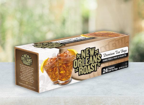 New Orleans Roast Iced Tea box on table