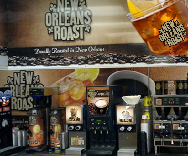 New Orleans Roast coffee and tea in convenience store