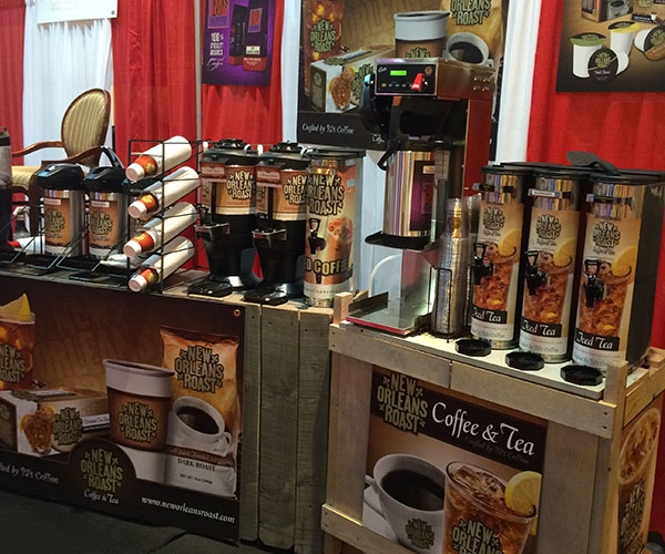 New Orleans Coffee and Tea at trade show