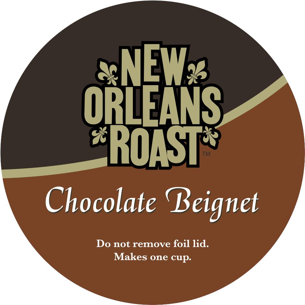 Chocolate Beignet Single Serve Label